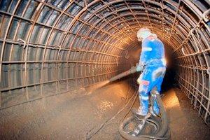 бетонная смесь в шахте