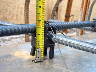 Измерение защитного слоя бетона для арматуры
